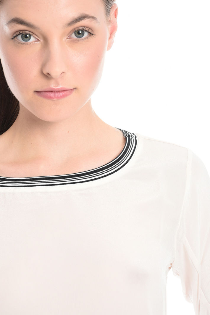 T-shir in jersey e seta Fashion Market