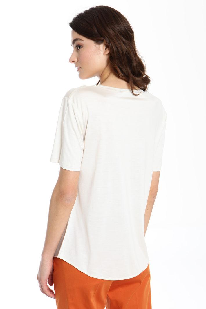 T-shirt in pura seta Diffusione Tessile