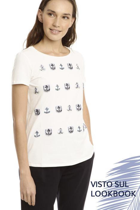T-shirt con applicazioni Intrend