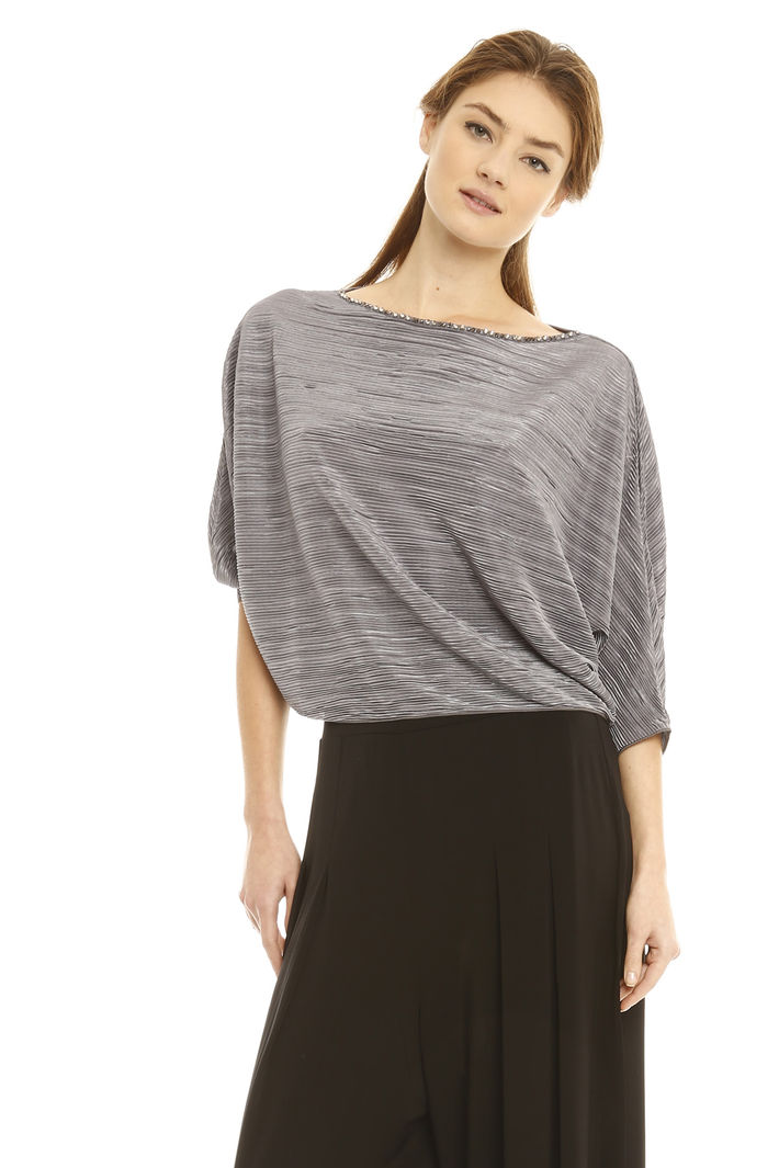 Top in jersey plissè Fashion Market