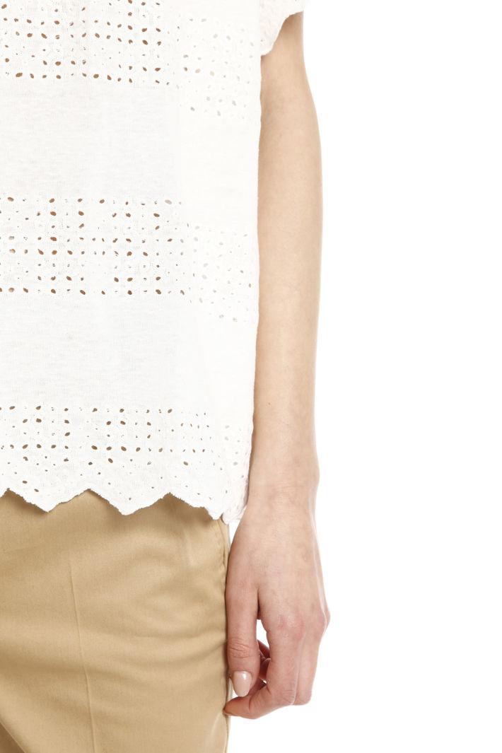 T-shirt con dettagli sangallo Diffusione Tessile