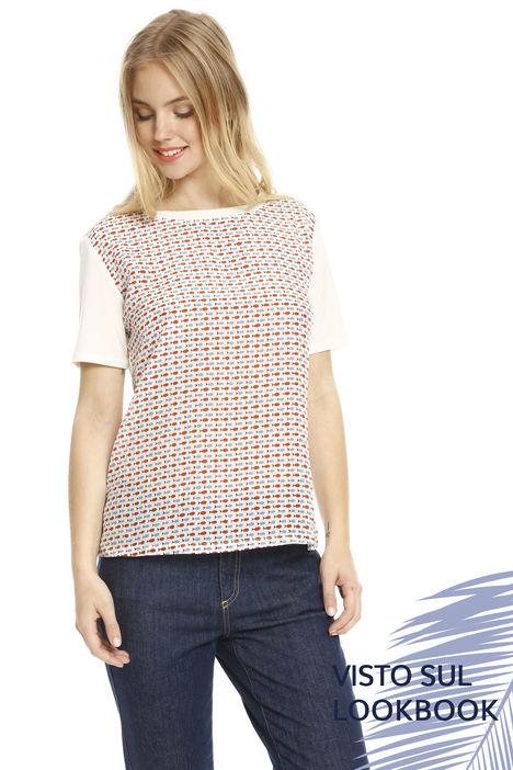 T-shirt in due tessuti Diffusione Tessile
