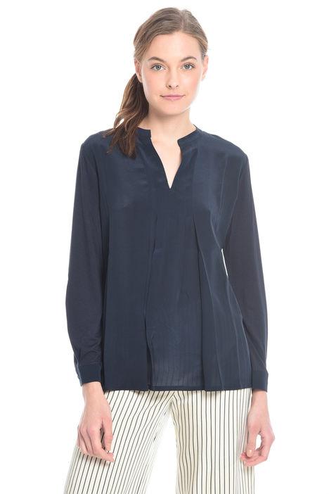 T-shirt bimateriale con pieghe Diffusione Tessile