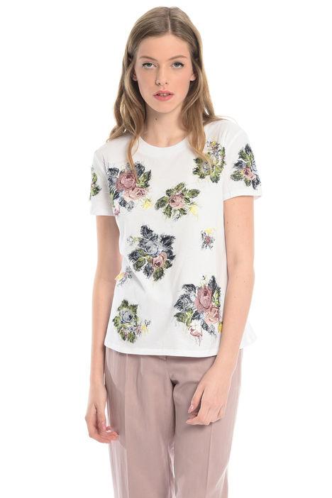 T-shirt con ricami floreali Intrend