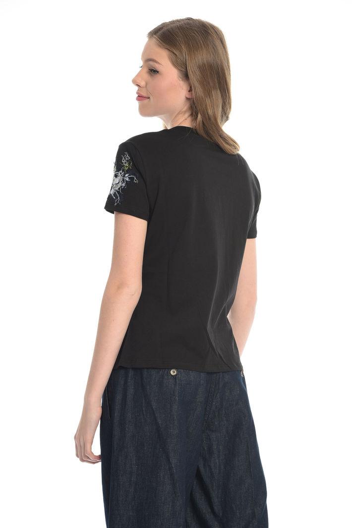 T-shirt con ricami floreali Fashion Market