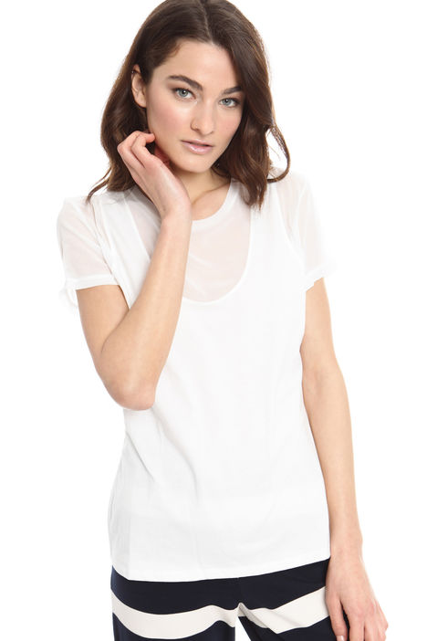 T-shirt bimateriale Intrend