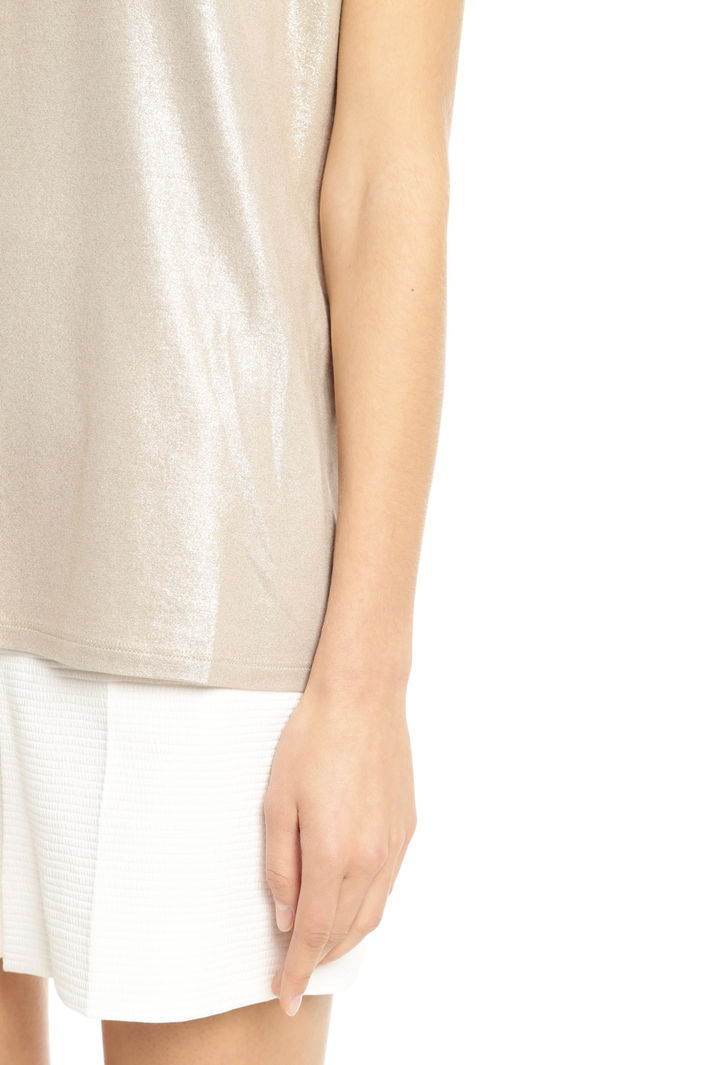 T-shirt in jersey glitter Intrend