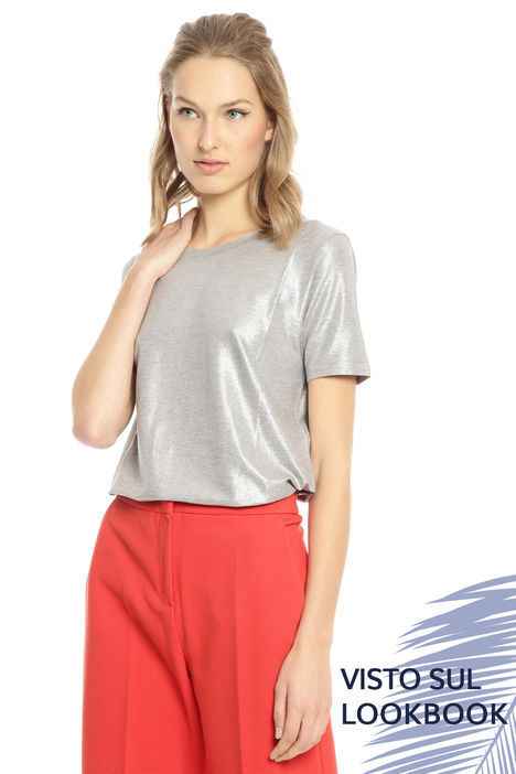 T-shirt in jersey glitter Diffusione Tessile
