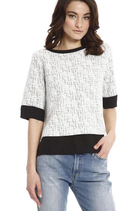 T-shirt boxy in maglia Diffusione Tessile