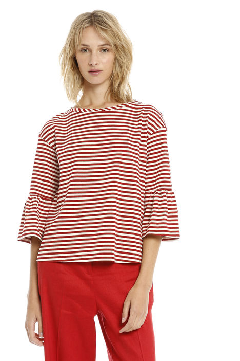 T-shirt in righe lurex Diffusione Tessile