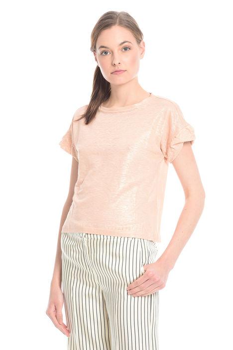 T-shirt con manica arricciata Intrend