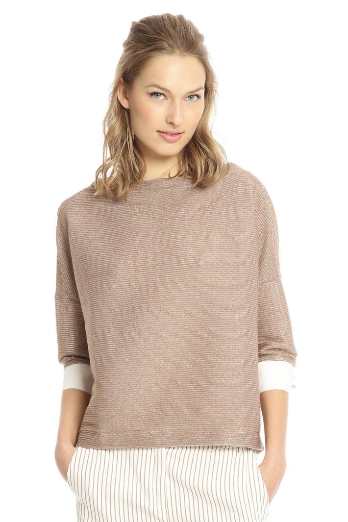 Maglia boxy in cotone lurex Fashion Market