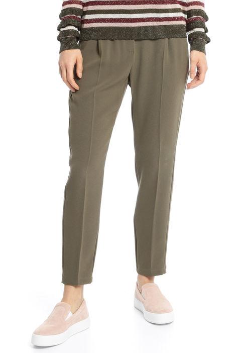 Pantaloni in cady cropped Diffusione Tessile