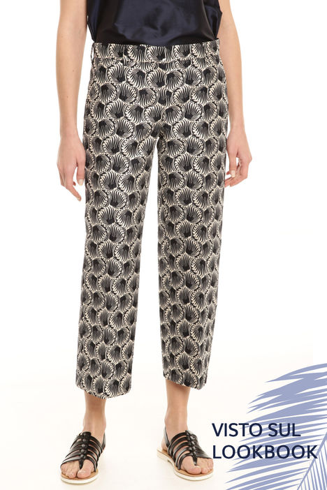 Pantaloni in jacquard lurex Intrend