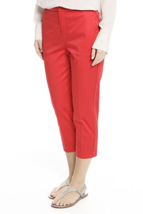 Pantaloni cropped in raso Diffusione Tessile