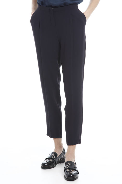 Pantaloni cropped in cady Intrend