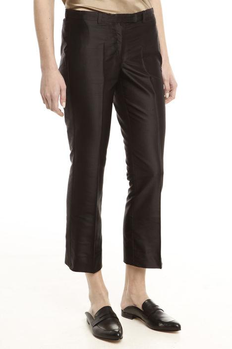 Pantaloni in shantung di seta Diffusione Tessile