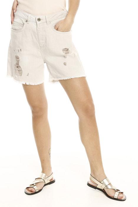 Shorts con rovinatura Diffusione Tessile