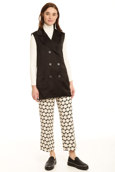 Gilet lungo in raso Intrend