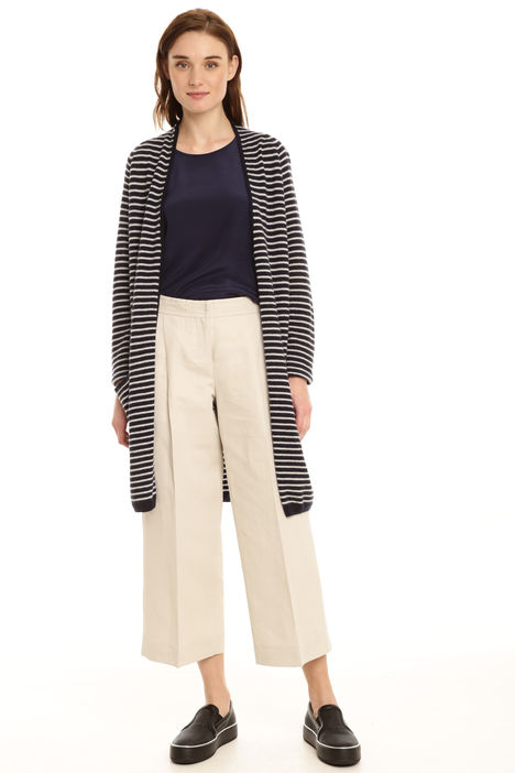 Cardigan lungo a righe Intrend