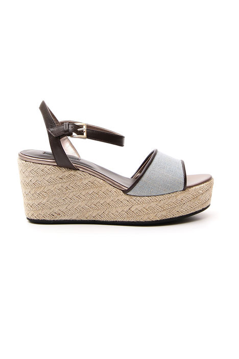 Sandali platform in canvas Intrend
