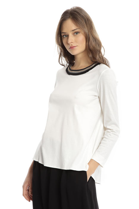 T-shirt in jersey con collier Diffusione Tessile