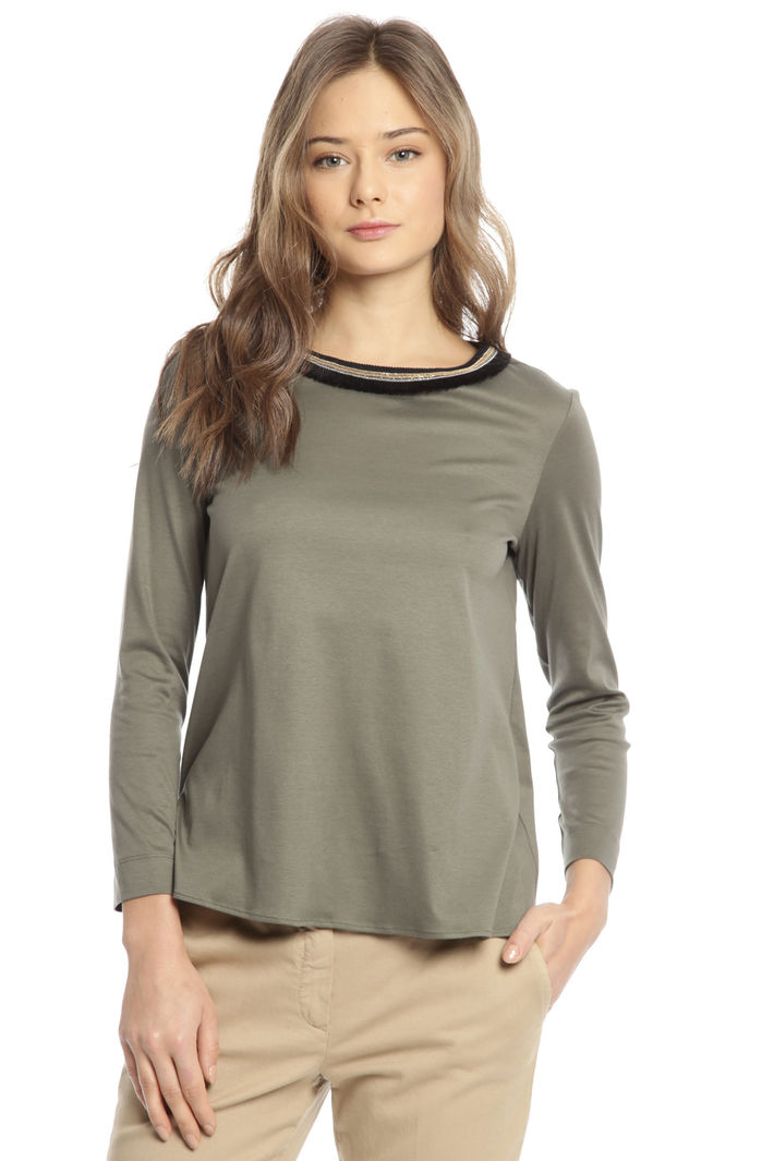 T-shirt in jersey con collier Intrend