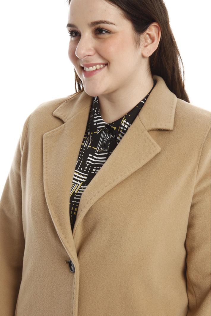 Cappotto in beaver di lana Diffusione Tessile