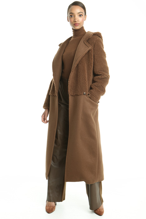 Oversized two-fabric coat Diffusione Tessile