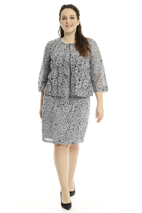 Boxy-fit lace jacket Diffusione Tessile