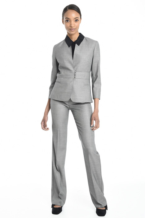 Fabric-covered button jacket Diffusione Tessile