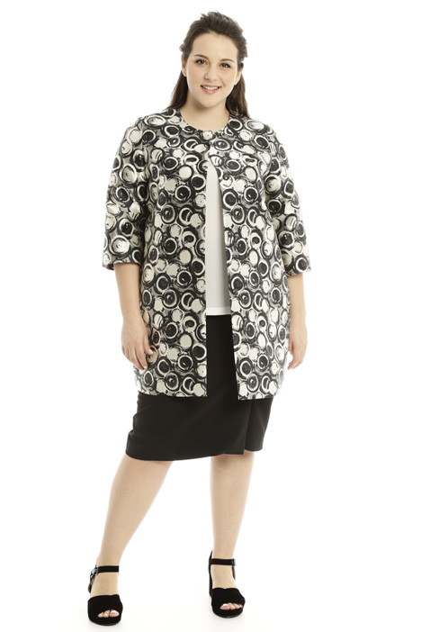 Patterned mikado duster coat Diffusione Tessile