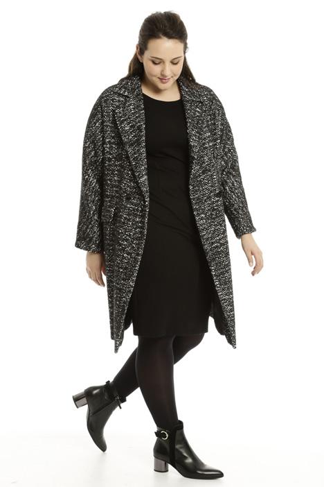 Two-tone bouclé coat Diffusione Tessile