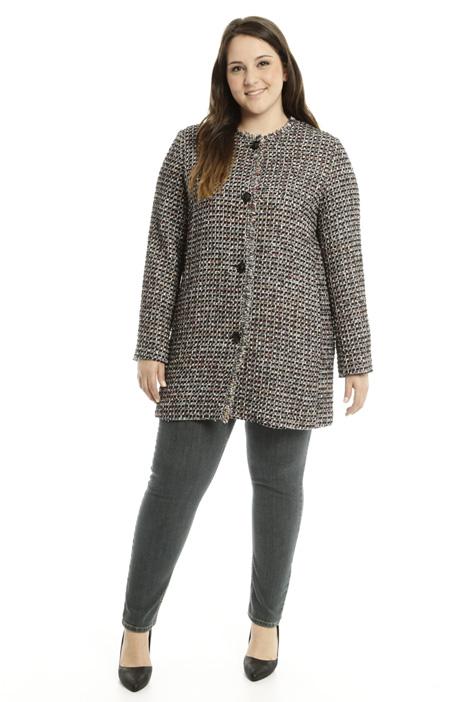 Multicolour bouclé duster coat Diffusione Tessile