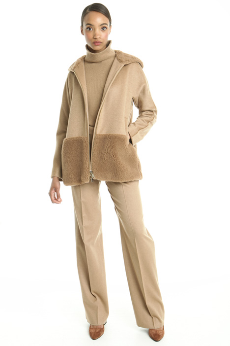 Hooded drap coat Diffusione Tessile