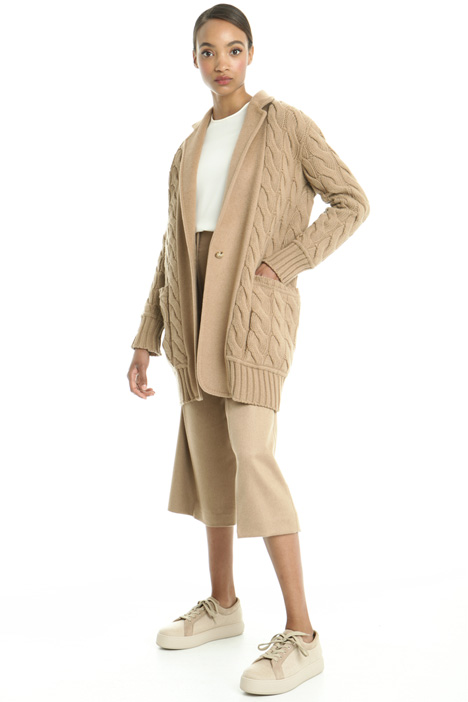 Knit coat in drap fabric Intrend