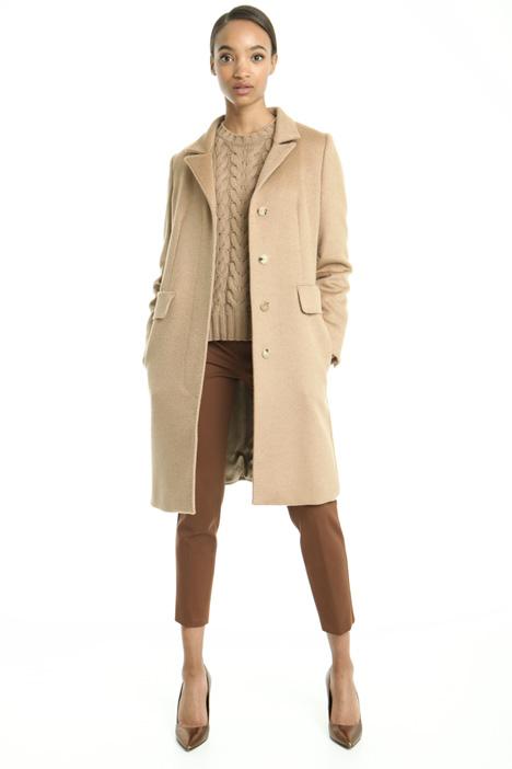 Sable-like drap coat Diffusione Tessile