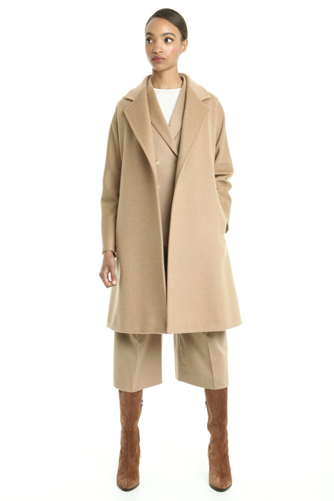 Drap coat with belt Diffusione Tessile