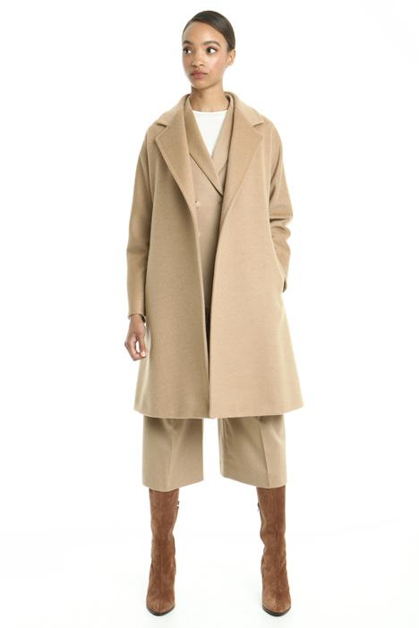 Cappotto in drap con cintura Diffusione Tessile