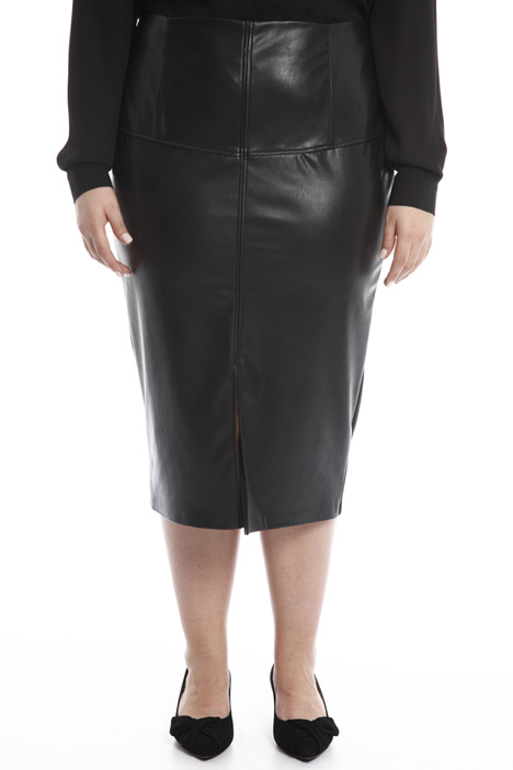 Leather-effect longuette skirt Intrend