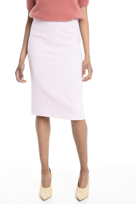 Virgin wool crepe skirt Diffusione Tessile