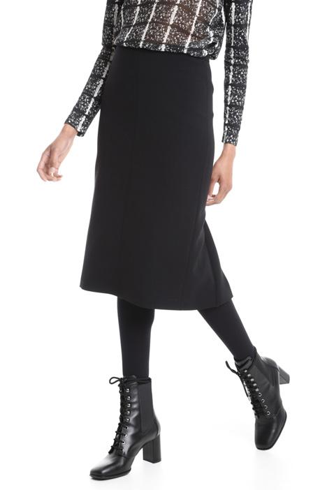 Virgin wool crepe skirt Diffusione Tessile