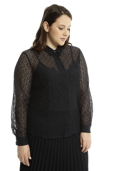 Sheer lace shirt Diffusione Tessile