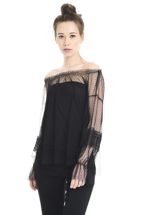 Bardot neck shirt Diffusione Tessile