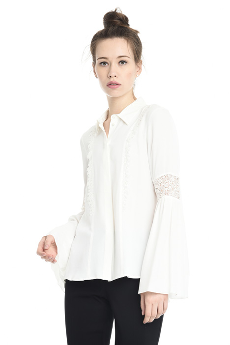 Lace insert shirt Diffusione Tessile