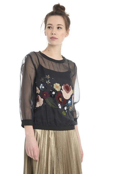 Embroidered organza tunic Intrend