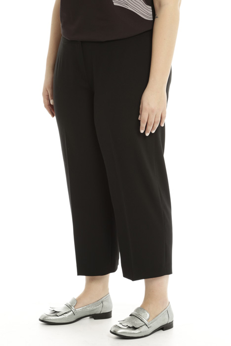 Cropped fluid trousers Diffusione Tessile