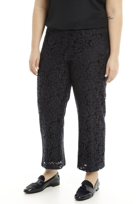 Pantalone cropped in pizzo Diffusione Tessile