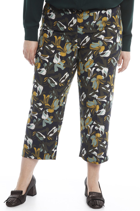 Pantalone cropped in cady Diffusione Tessile