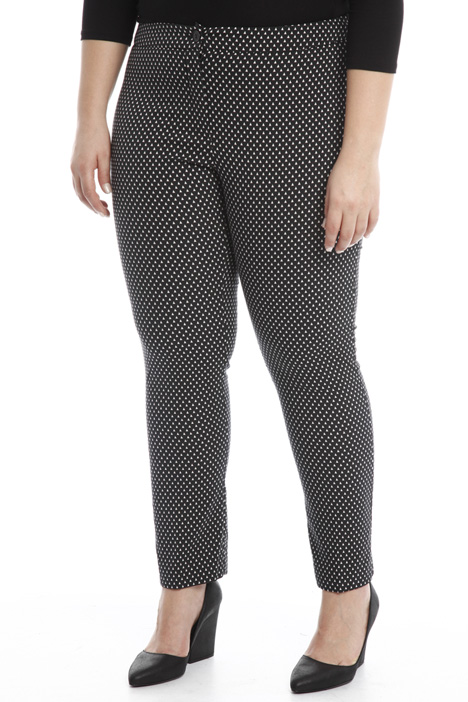 Fitted trousers with pattern Intrend